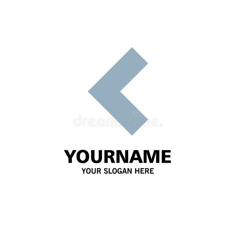 Pijl, Achter, Linkerzaken Logo Template vlakke kleur vector illustratie