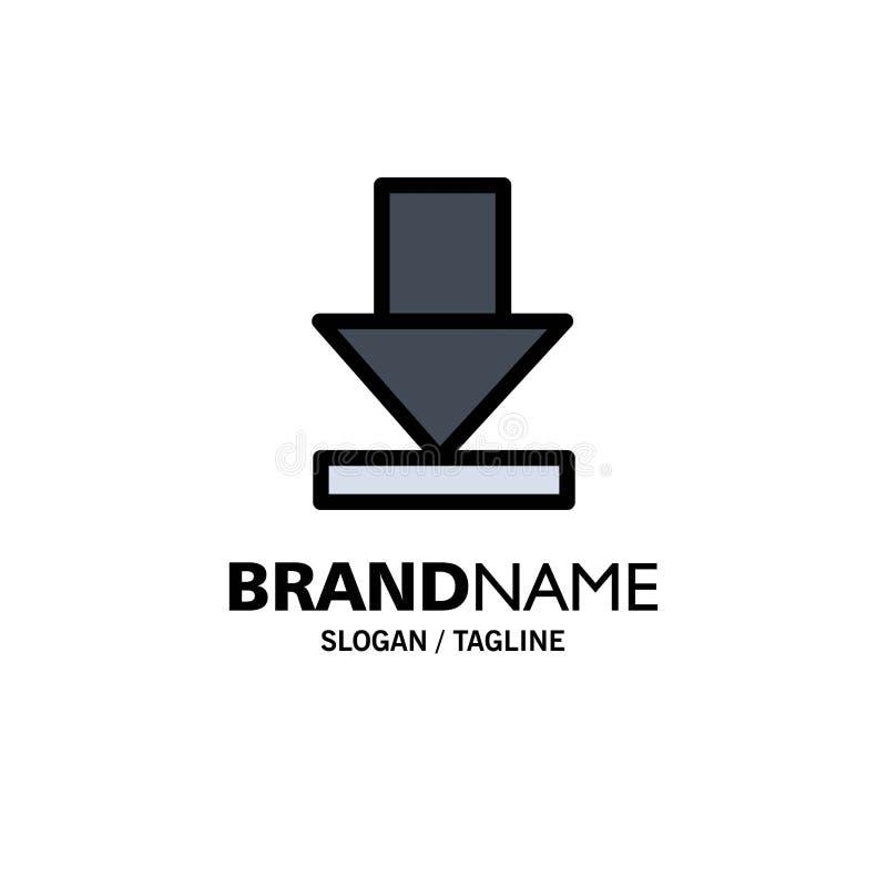 Pijl, Dawn, Downloadzaken Logo Template vlakke kleur stock illustratie
