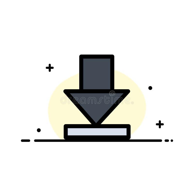 Pijl, Dawn, Malplaatje Download van de Bedrijfs het Vlakke Lijn Gevulde Pictogram Vectorbanner royalty-vrije illustratie
