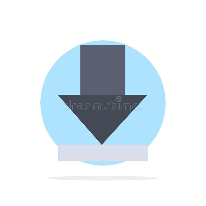 Pijl, Dawn, van de Achtergrond download Abstract Cirkel Vlak kleurenpictogram royalty-vrije illustratie