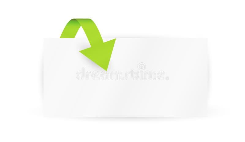 Pijl en document stock illustratie