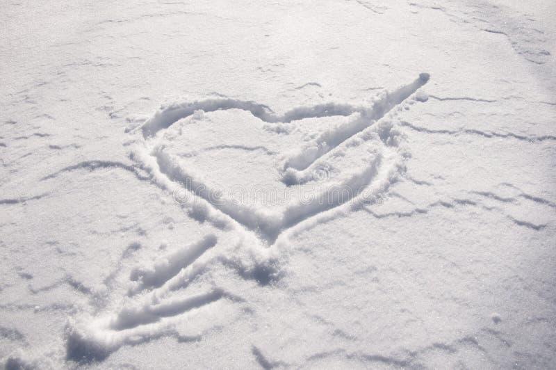 Pijl in het hart stock afbeelding