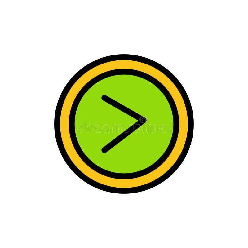 Pijl, Interface, Recht, Pictogram van de Gebruikers het Vlakke Kleur Het vectormalplaatje van de pictogrambanner stock illustratie