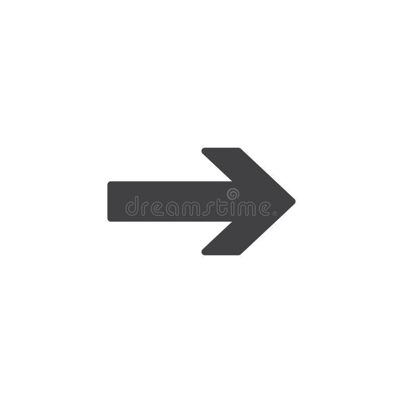 Pijl juist vectorpictogram royalty-vrije illustratie