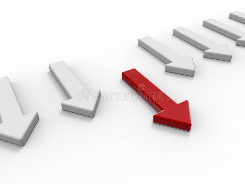 Pijl - leidersconcept vector illustratie