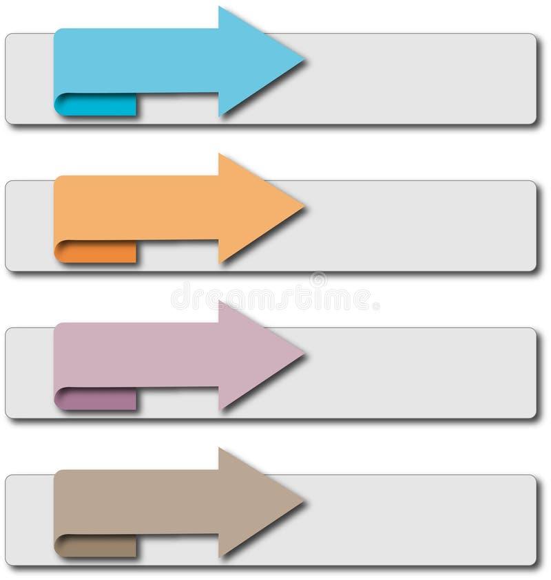pijl richting vector illustratie
