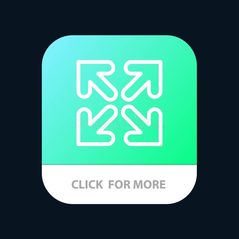 Pijl, Richting, de Knoop van de Bewegingsmobiele toepassing Android en IOS Lijnversie stock illustratie