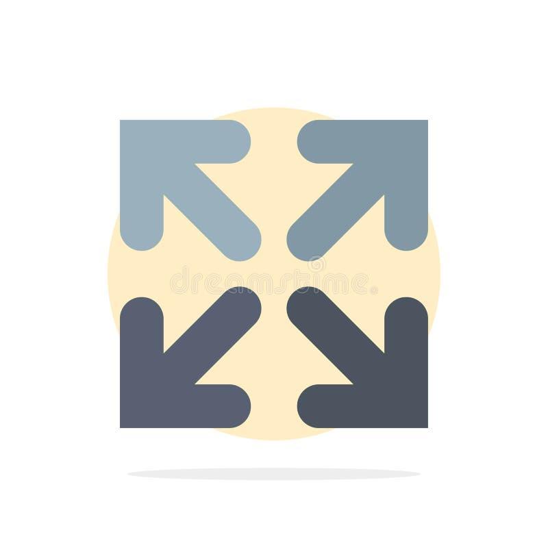 Pijl, Richting, van de Achtergrond bewegings Abstract Cirkel Vlak kleurenpictogram vector illustratie
