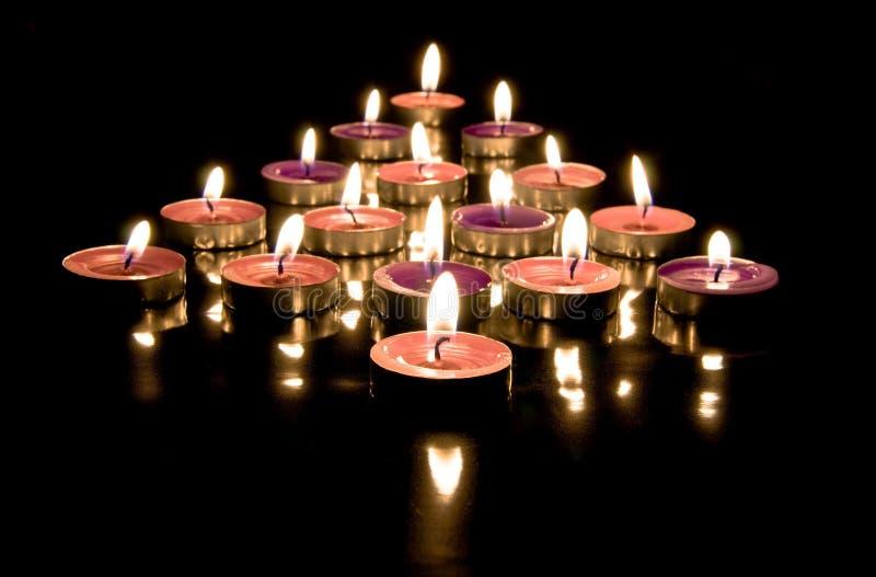 Pijl van kaarsen royalty-vrije stock foto's