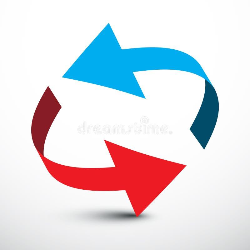 pijl Vector Rode en Blauwe Pijlen royalty-vrije illustratie
