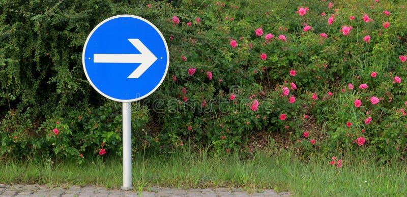 Pijl - verkeersteken - weg kruising royalty-vrije stock afbeeldingen