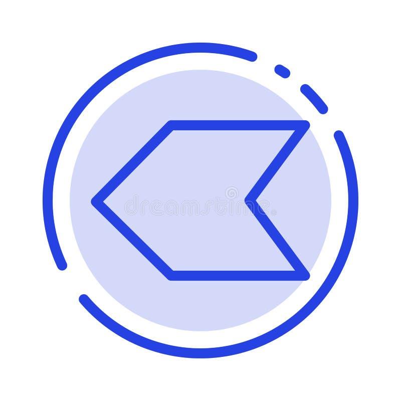 Pijl, Wijzer, Verlaten het Blauwe Pictogram van de Gestippelde Lijnlijn royalty-vrije illustratie