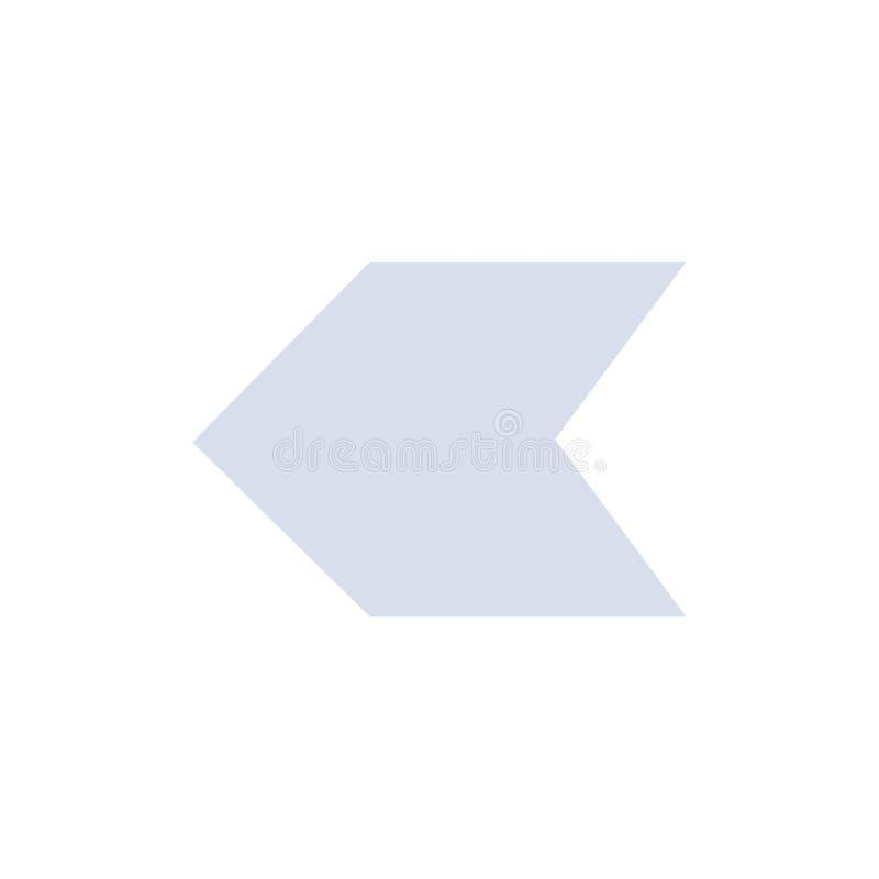 Pijl, Wijzer, Verlaten Vlak Kleurenpictogram Het vectormalplaatje van de pictogrambanner stock illustratie