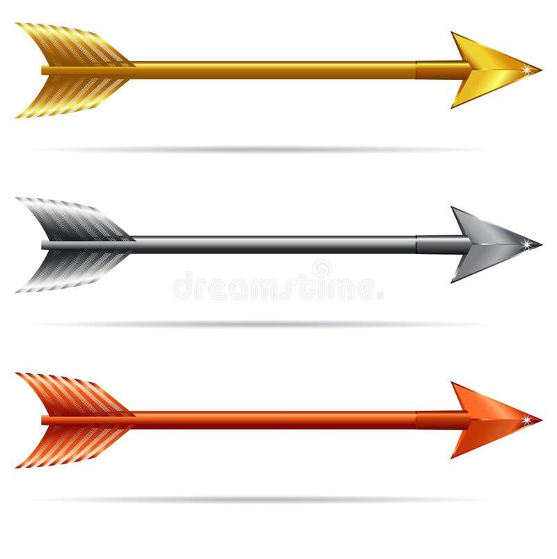 Pijlen stock illustratie