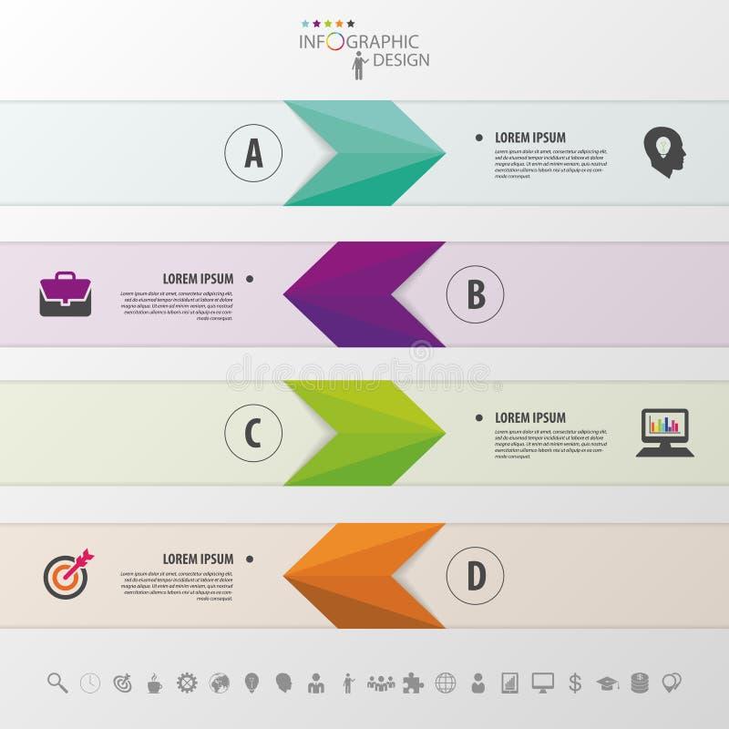 pijlen Abstracte 3D digitale illustratie Infographic Vector illustratie stock illustratie