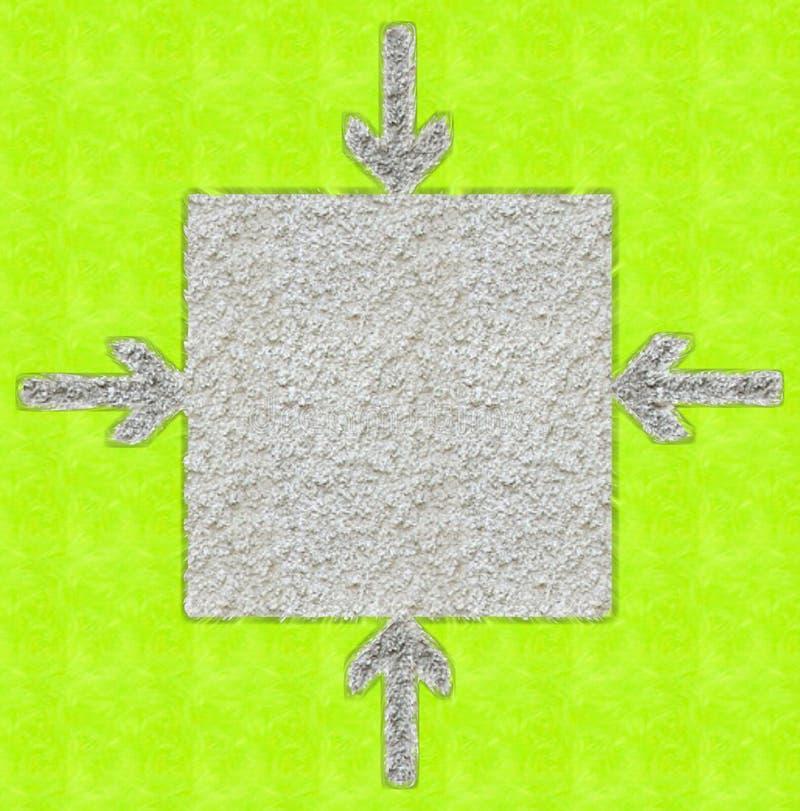 Pijlen die doos richten vector illustratie