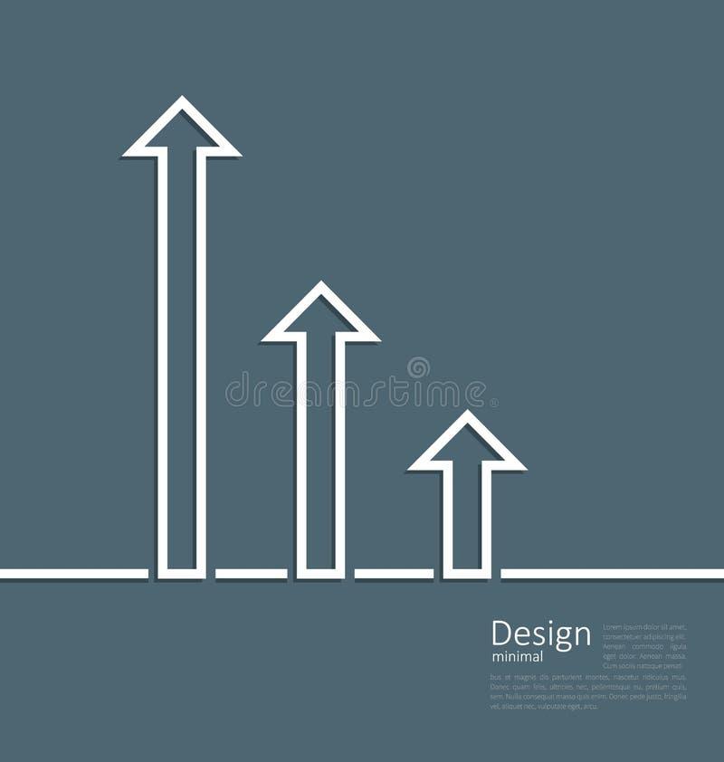 Pijlen die op een verhoging in succes, embleemmalplaatje collectief s wijzen royalty-vrije illustratie