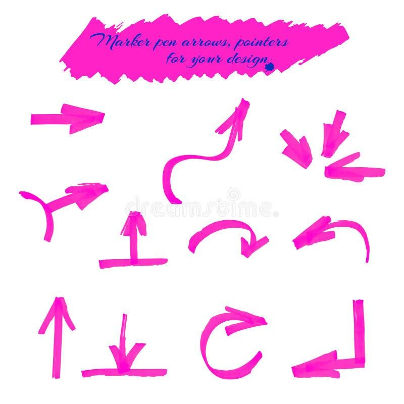 Pijlen en wijzers stock illustratie