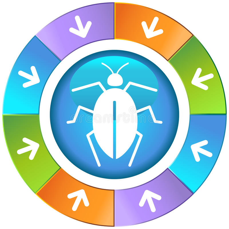 Pijlen met Wiel - Insect royalty-vrije illustratie