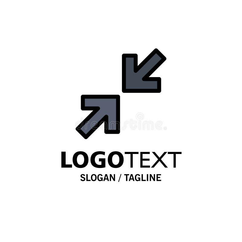 Pijlen, Pijl, Gezoemzaken Logo Template vlakke kleur vector illustratie