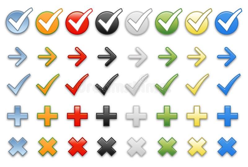 Pijlen voor presentatie stock illustratie