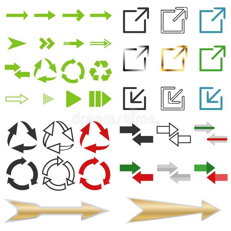 Pijlen, wijzers royalty-vrije illustratie
