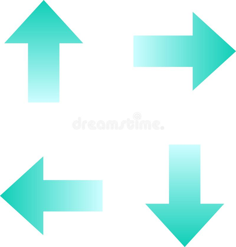 Pijlengroep in vier richtingen vector illustratie