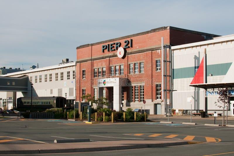 Pijler 21 in Halifax stock afbeelding