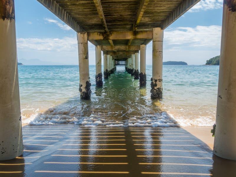 Pijler in Brazilië stock foto's