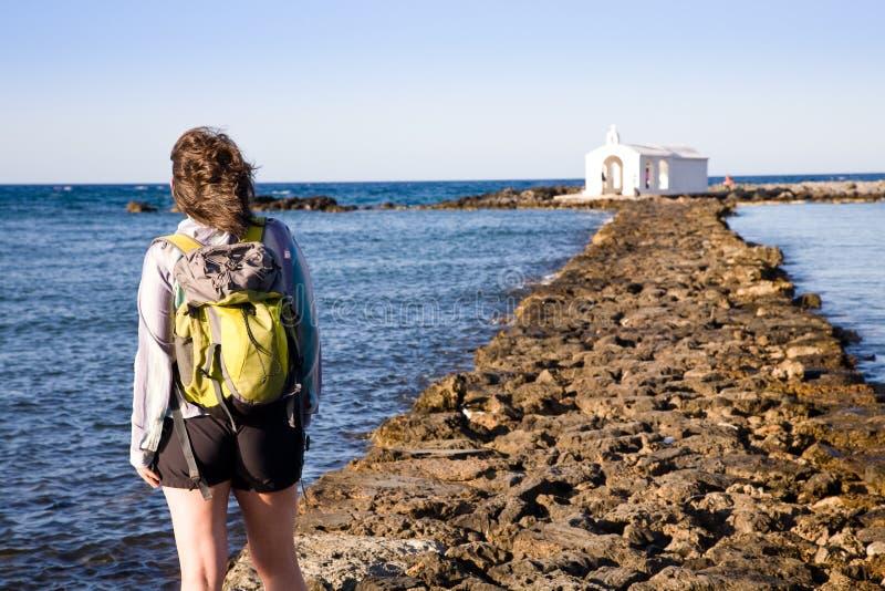 Pijler, Georgioupolis, Kreta stock fotografie