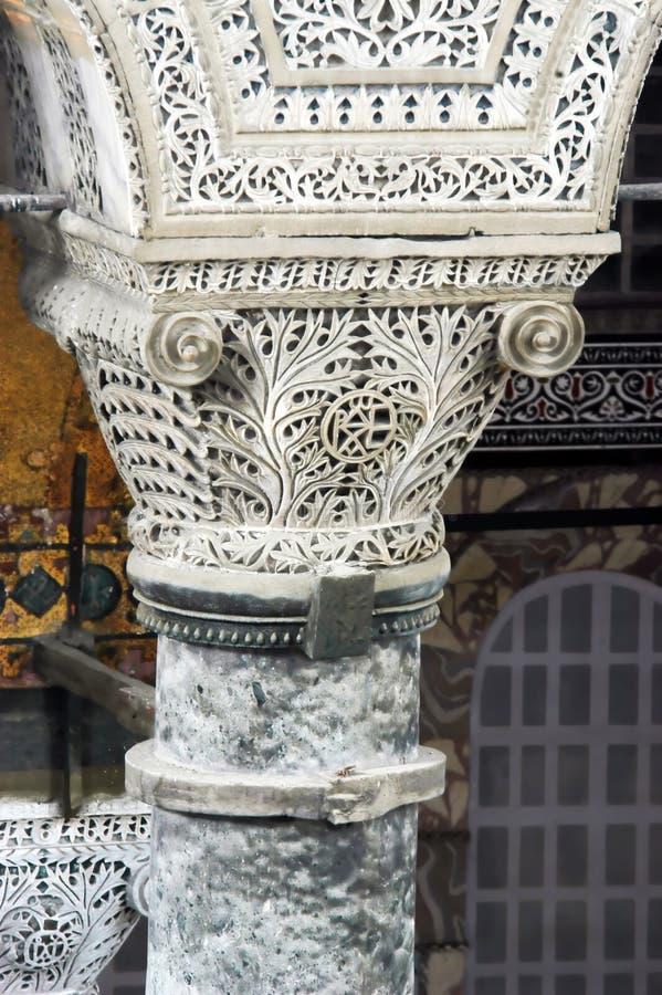 Pijler in Hagia Sofia royalty-vrije stock afbeeldingen