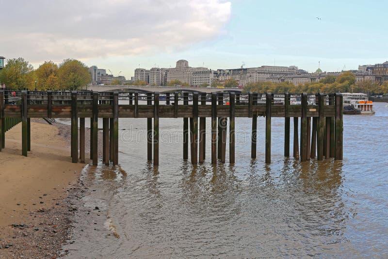 Pijler in Londen royalty-vrije stock foto