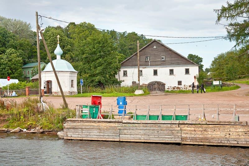 Pijler op het Eiland Valaam royalty-vrije stock afbeeldingen