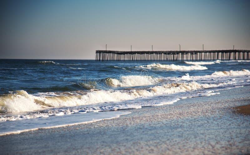 Pijler op Virginia Beach stock afbeeldingen