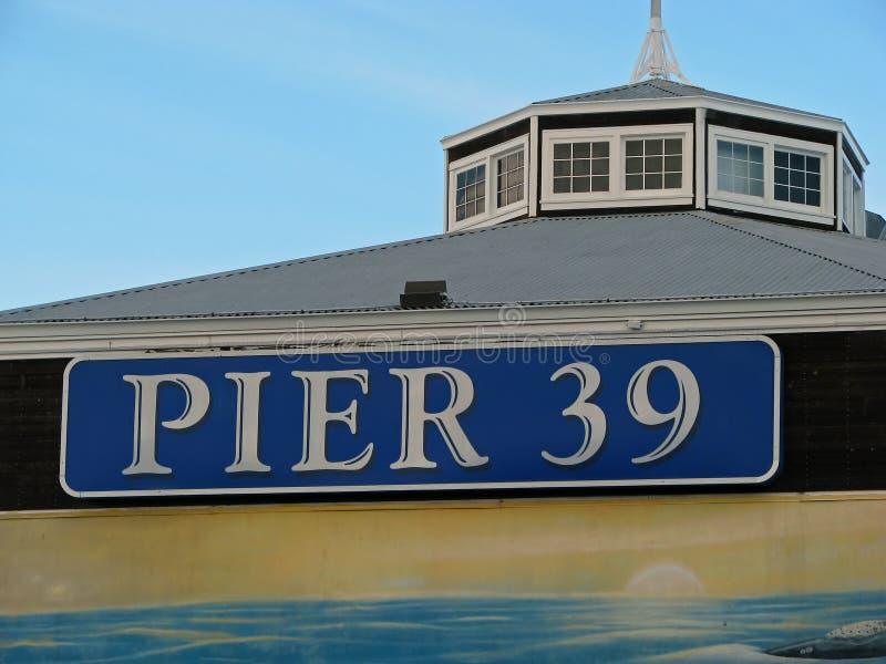 Pijler 39 in San Francisco stock foto