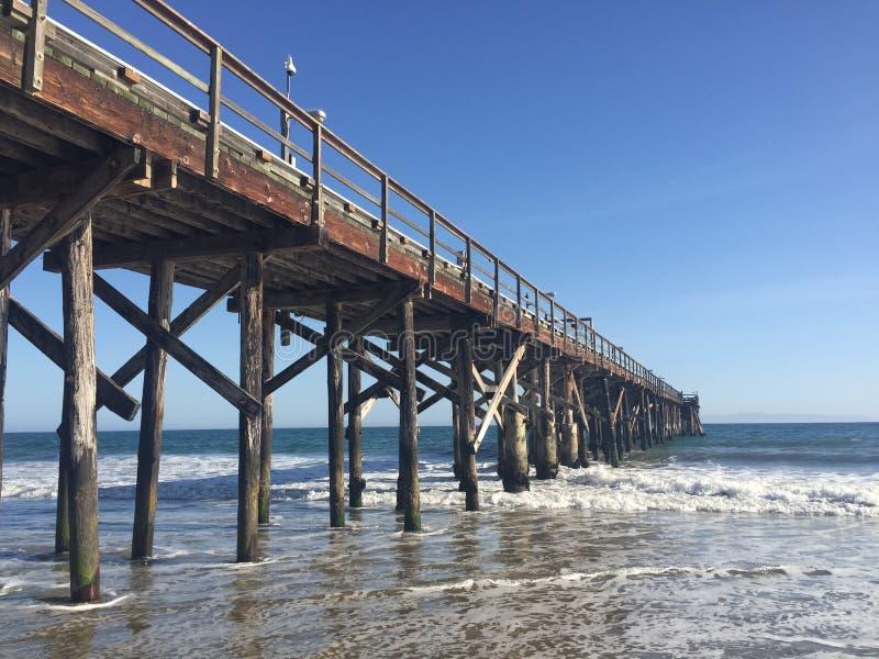 Pijler in Santa Barbara stock afbeelding