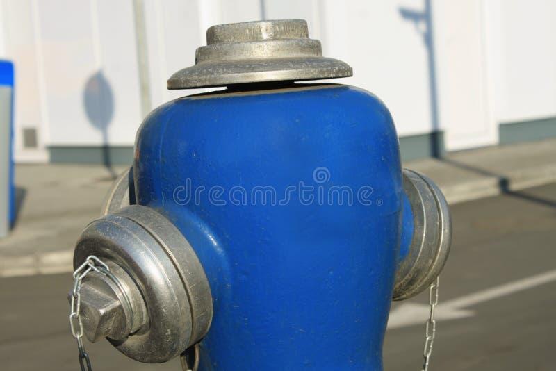 Pijler-type blauwe brandkraan stock afbeeldingen