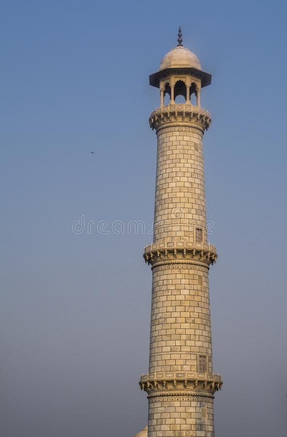 Pijler van Taj Mahal Daylight View stock afbeelding
