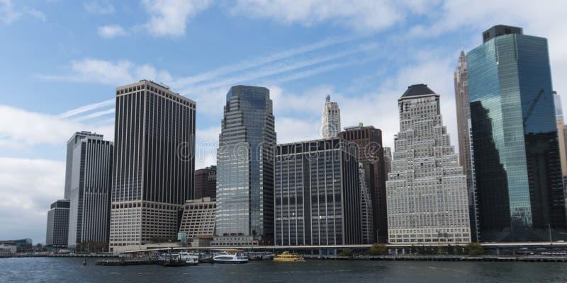 Pijler 11 van Wall Street in de Stad van New York royalty-vrije stock afbeeldingen