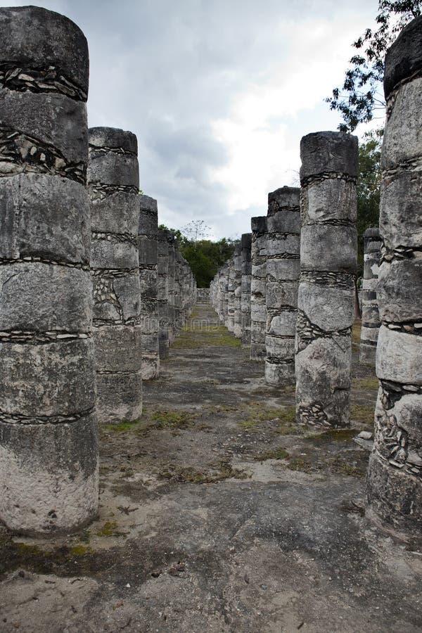 1000 pijlers complex bij de plaats van Chichen Itza, Yucatan, Mexico royalty-vrije stock foto's