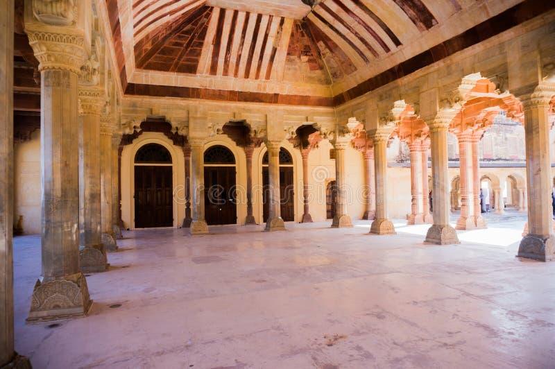 Pijlers in de zaal van diwan e-aam amer Jaipur royalty-vrije stock foto's