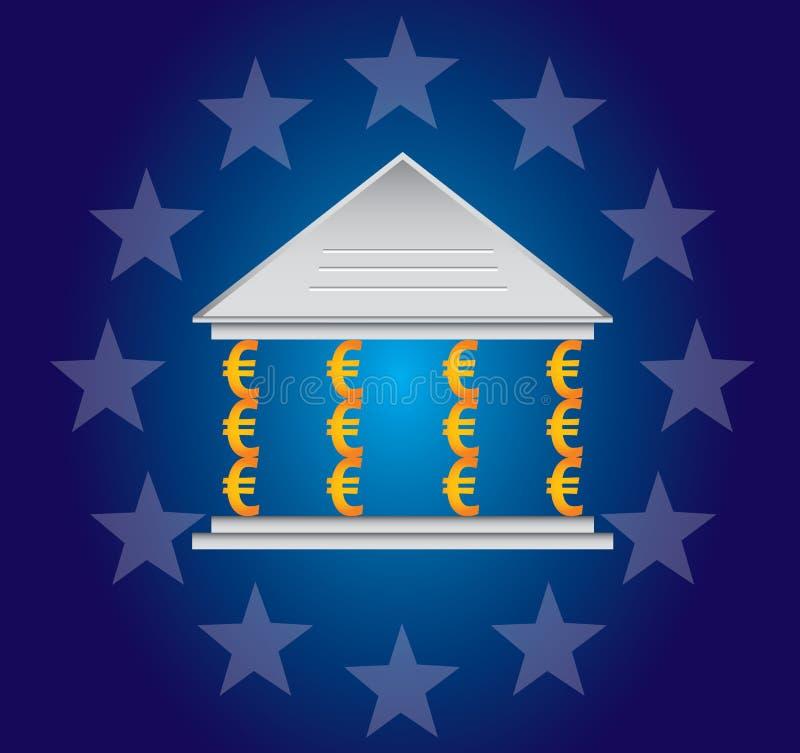 Pijlers van de Euro royalty-vrije illustratie