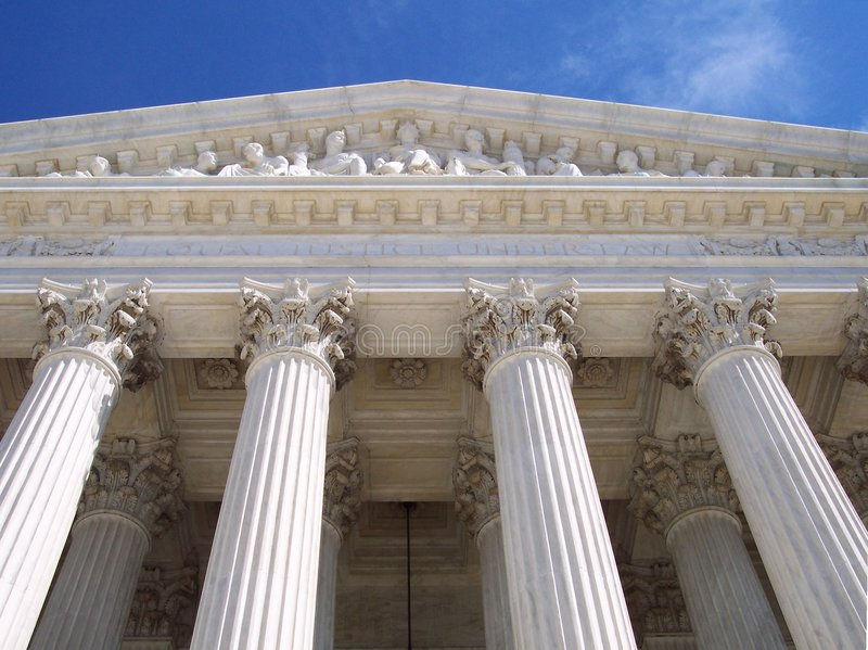 Pijlers van het Hooggerechtshof royalty-vrije stock foto