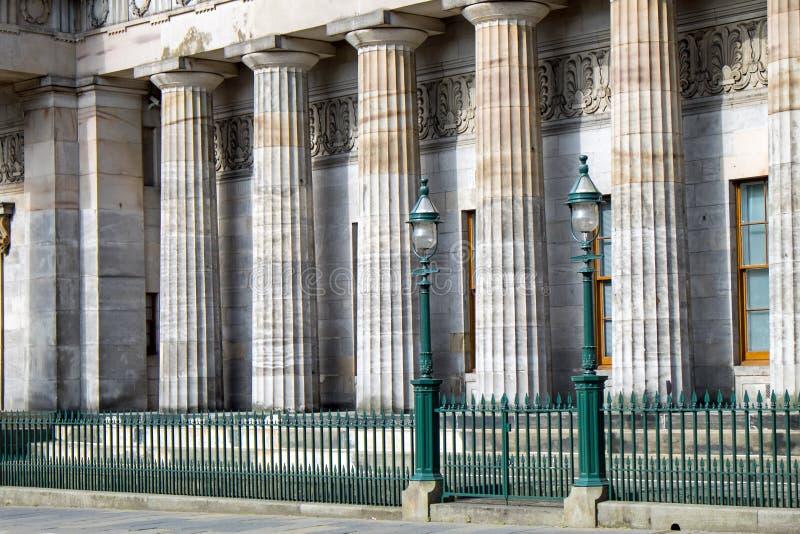 Pijlers van het National Gallery stock afbeeldingen