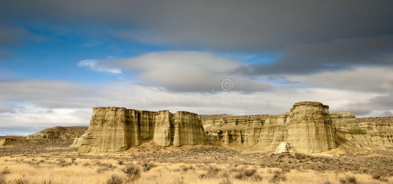 Pijlers van het uitzichtzonsopgang Oregon van Rome stock afbeelding