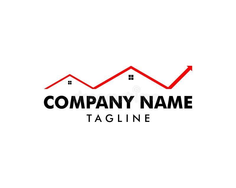 Pijlhuis Logo Design Template royalty-vrije illustratie