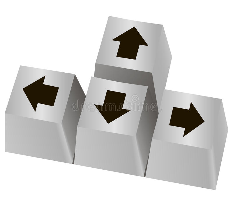 Pijlknoop stock illustratie