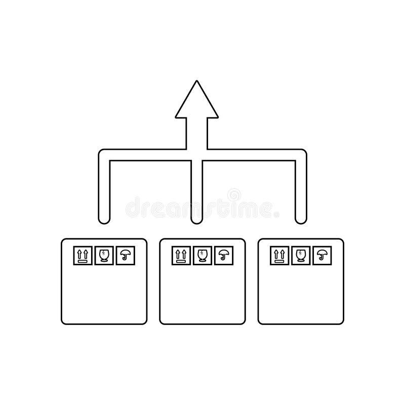 pijllevering van het pictogram van de verpakkingsdoos Element van Logistisch voor mobiel concept en webtoepassingenpictogram Over vector illustratie