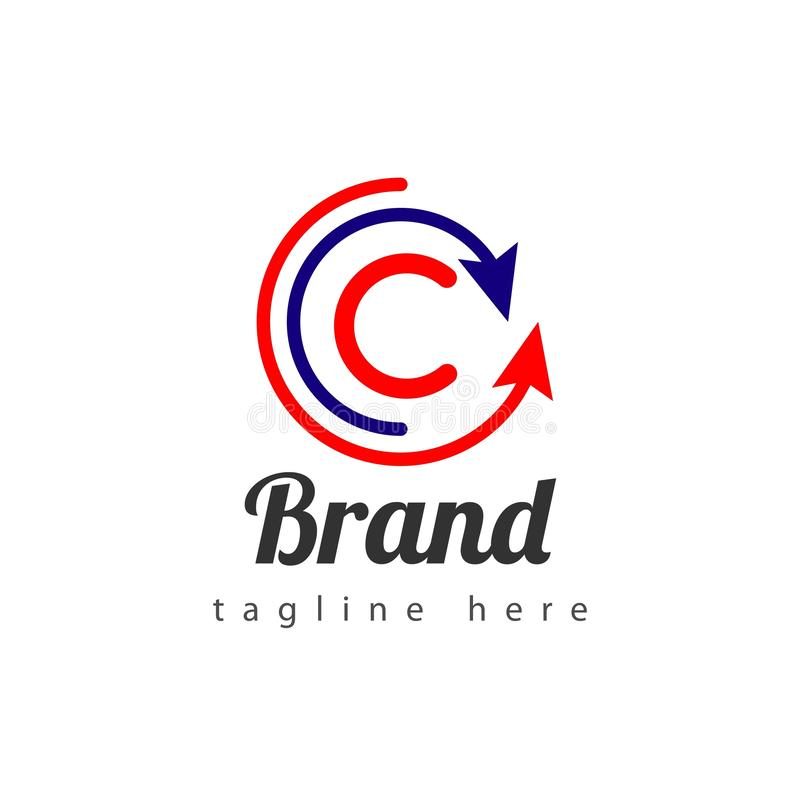 Pijlmerk Logo Vector Template Design Illustration royalty-vrije illustratie