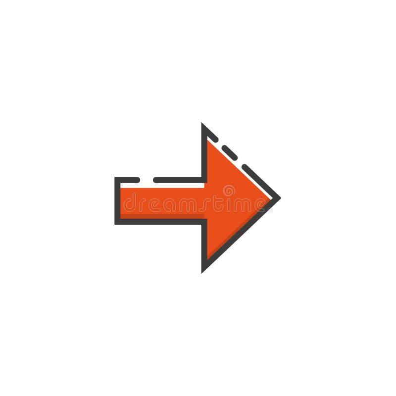 Pijlpictogram in een vlak ontwerp Vector illustratie vector illustratie